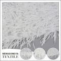 Factory supplier beatuiful polyester mesh white chiffon fabric with tassel