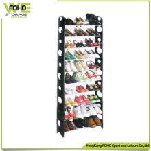 Support en plastique imperméable de chaussure de stockage de support d'affichage fait sur commande