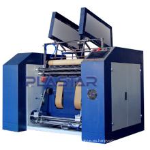 Cortadora de rebobinado del rollo de papel de la caja registradora completamente automática del estiramiento y máquina adherente del fillm