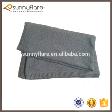 luxury 100% cashmere knitted travel blanket