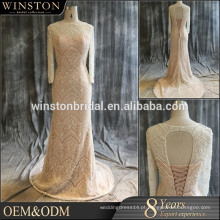 Wholesale Fashion Design vestido de casamento muçulmano longo