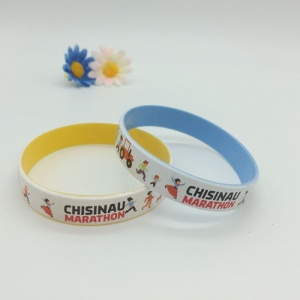 Color Coated Silicone Wristbands
