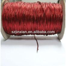 Hilo trenzado metálico PET rojo