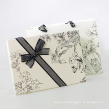 Elegant Custom Gift Paper Packaging Box with Silk Ribbon