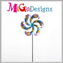 Metallwind-Spinner Schöner Blumen-Steckeinsatz für Garten