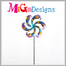 Metal Wind Spinners Beautiful Flower Stake for Garden