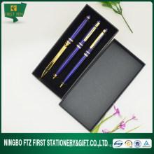OEM 3pcs de alta calidad de la pluma de papel clásico caja de la pluma