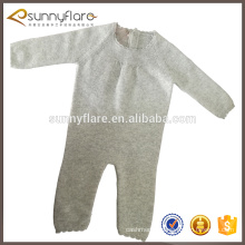 pure cashmere knitted newborn baby winter jumpsuit