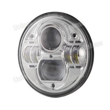 """Farol de caminhão LED 7 """"12V 73W CREE"""