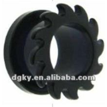 Oído túnel de carne túnel de oído barato túneles de orejas personalizadas tapones