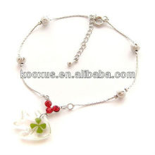 Lucky 100 four leaf clover bracelet/bangle