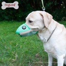 Doux museau de chien en cuir de silicone de confort Anti Bite Barking Frog Shape Dog Mouth Cover