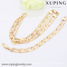 63490-Xuping Atacado Fashion Jewelry Gold Jewelry Set