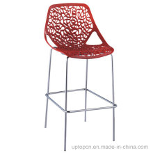 Hollow out Stainless Steel High Plastic Cafe Bar Chair (SP-UBC145)