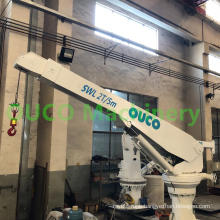 2T telescopic boom yacht crane with CCS certified