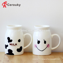 Cute design ceramic breakfast milk mug for children