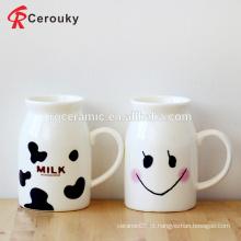 Caneca de leite de café da manhã de design bonito para crianças