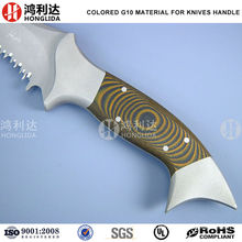 Orange knife handle by g10 handle composite material