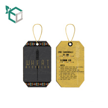 Fashion UV Custom New Paper Clothing Label Tags