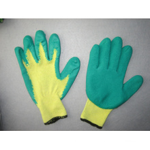 10g Polyester Liner Latex Coated Chemical Glove--5242. Gn