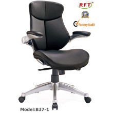 Chinese Leather Office Furniture Hotel Revolving Manager Chair (B37-1)