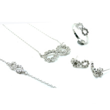 Mais novo design para a mulher 925 conjuntos de jóias de prata (s3316)