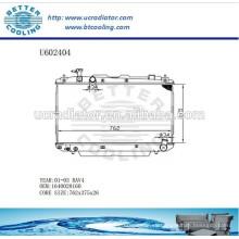 Radiador Para TOYOTA 01-03 RAV4 Aluminio 1640028160 Fabricante y Venta Directa