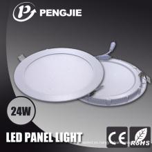 Fábrica que vende la cubierta blanca clara del panel LED con el material de fundición a presión
