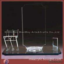 Big clear lucite/acrylic menu holder with original design