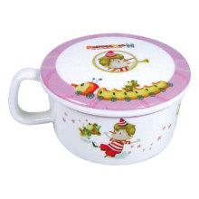 Tasse de vaisselle de mélamine pour enfant avec couvercle / housware (pH621S)