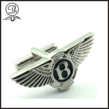 Eagle wing silver metal cuff link