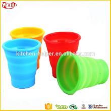 Оптовая не стик силиконовые складные чашки