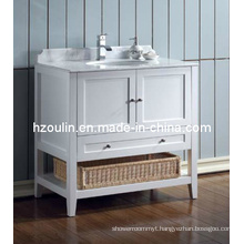 White Single Sink Bathroom Vanity (BA-1116)