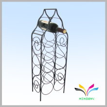 Floor stand metal hold 10 bottles storage holders wire wine rack