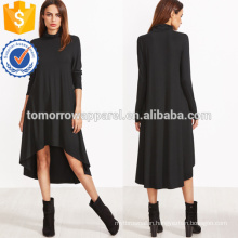 Cowl Neck Dip Hem Swing Dress Manufacture Wholesale Fashion Women Apparel (TA3229D)