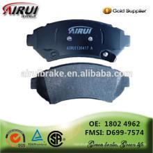 Almohadillas de freno de alta calidad, piezas de automóviles fabricante chino (OE: 1802 4962 / FMSI: D699-7574)