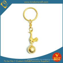 2015 benutzerdefinierte Goldenes Fasan-Metall Keychain des Großverkauf-3D