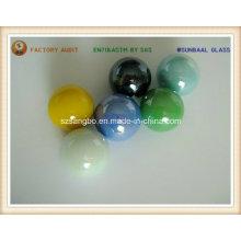 Esfera em mármore de vidro de cor opaca