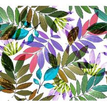 Bunte Blätter gedruckt Stoff Nylon für Bademode (ASQ101)
