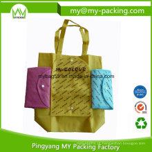Compra fácil do supermercado sacos promocionais não tecidos dobrados