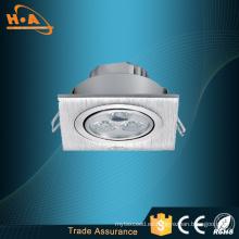 China Manufacturer 3X1w SMD2835 LED Panel Lámpara de techo