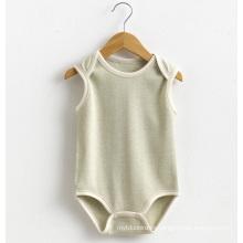 Summer Cotton Baby Unisex encantador sin mangas mameluco