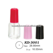 Empty Glass Nail Gel Polish Bottles With Cap And Brush
