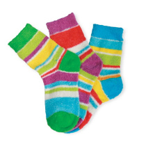 Fluffy Socks Lady Colorful Socks Strip Socks