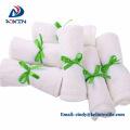 Custom 100% organic bamboo fiber washcloths 12x12 with ribbon