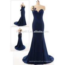 Vestido de baile de diseño real Elegante cariño Off-hombro de espalda sexy con Tull sirena de las mujeres 2017 vestido de noche AS407