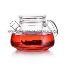 Großhandelskundenspezifische hitzebeständige Glasinfusion-Teekannen