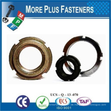 Made in Taiwan CNC Ring Messing Hex Ringschloss Rändelung Selbstverriegelnde Gewinde Ringnuss