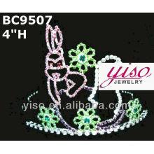 Adorável coroa de cristal e tiara
