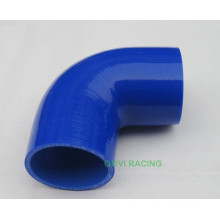 Tuyau en silicone bleu de 90 degrés 76mm Turbo Supercharger